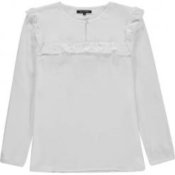 Bluzka w kolorze białym. Białe bluzki dziewczęce bawełniane marki Marc O'Polo Junior, z nadrukiem, z okrągłym kołnierzem, z długim rękawem. W wyprzedaży za 95,95 zł.