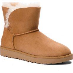 Buty UGG - W Classic Cuff Mini 1016417  W/Che. Brązowe buty zimowe damskie Ugg, ze skóry. Za 799,00 zł.
