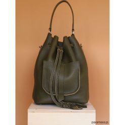 Damska torebka, skórzany worek | plecak. Brązowe torebki worki Pakamera, ze skóry. Za 620,00 zł.