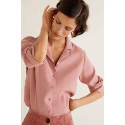 Mango - Koszula Toscana. Różowe koszule damskie Mango, l, z poliesteru, z długim rękawem. Za 199,90 zł.