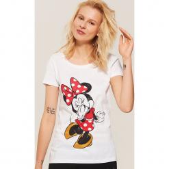 Koszulka piżamowa Minnie Mouse - Biały. Białe koszule nocne i halki House, l, z motywem z bajki. Za 35,99 zł.