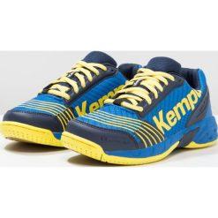 Kempa ATTACK Obuwie do piłki ręcznej deep blue/lime yellow. Niebieskie buty do koszykówki damskie marki Kempa, z gumy. Za 239,00 zł.