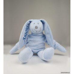 Królik (błękit) - maskotka z własnym napisem. Niebieskie przytulanki i maskotki Pakamera. Za 69,00 zł.