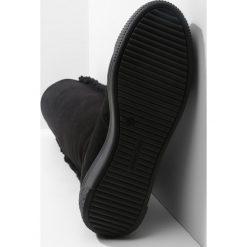 See by Chloé Kozaki na koturnie nero. Czarne buty zimowe damskie See by Chloé, z materiału, na koturnie. W wyprzedaży za 1295,20 zł.