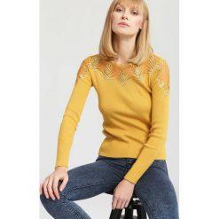 Żółty Sweter Swag. Żółte swetry klasyczne damskie other, na jesień, l. Za 79,99 zł.