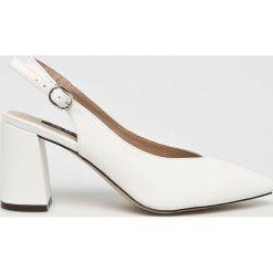 Answear - Czółenka Lily Rose. Czerwone buty ślubne damskie marki ANSWEAR, z materiału, na obcasie. W wyprzedaży za 79,90 zł.