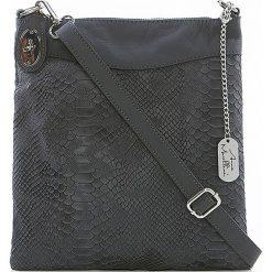 Torebki klasyczne damskie: Skórzana torebka w kolorze antracytowym - 26 x 28 x 3 cm