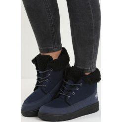 Granatowe Śniegowce Seek Peace. Czarne buty zimowe damskie Born2be. Za 59,99 zł.