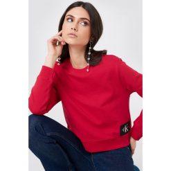 Bluzy rozpinane damskie: Calvin Klein Bluza Harrisi True Icon Crew Neck - Red