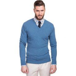 Sweter FABRIZIO SWNR000106. Czarne swetry klasyczne męskie marki Polo Club C.H..A, m, dekolt w kształcie v. Za 229,00 zł.