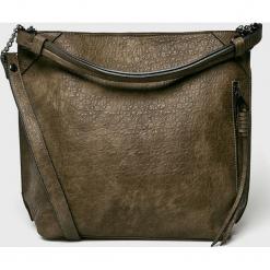 Medicine - Torebka Basic. Brązowe torebki klasyczne damskie MEDICINE, w paski, z materiału, duże. Za 149,90 zł.