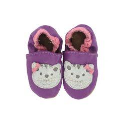 Buciki niemowlęce chłopięce: BaBice Buciki do raczkowania Kotek lila - fioletowy