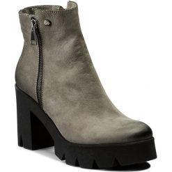 Botki EVA MINGE - Paloma 2C 17SM1372211EF 409. Szare buty zimowe damskie Eva Minge, z nubiku, na obcasie. W wyprzedaży za 249,00 zł.