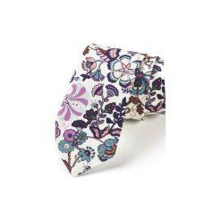 Krawat męski TOLEDO. Brązowe krawaty męskie HisOutfit, z materiału. Za 129,00 zł.