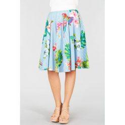 Minispódniczki: Spódnica rozszerzana, rozkloszowana, półdługa