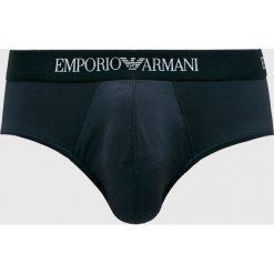 Emporio Armani - Slipy. Czarne slipy męskie Emporio Armani, z dzianiny. Za 139,90 zł.