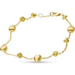 Bransoletki damskie: Piękna Złota Bransoletka - złoto żółte 585