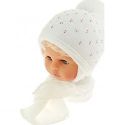 Czapka dziecięca z szalikiem CZ+S 129A. Szare czapeczki niemowlęce Proman. Za 42,82 zł.