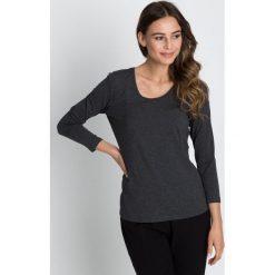 Bluzki damskie: Szara klasyczna bluzka z rękawem 3/4 BIALCON