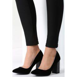Buty ślubne damskie: Czarne Welurowe Czółenka Luxe