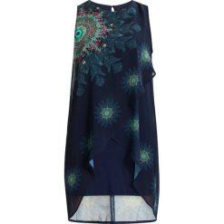 Desigual NADIA Sukienka letnia blue. Niebieskie sukienki letnie marki Desigual, z materiału. Za 379,00 zł.