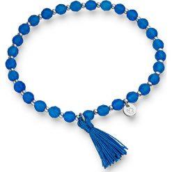 Bransoletki damskie: Bransoletka w kolorze niebiesko-srebrnym