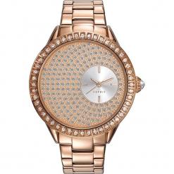 Zegarek kwarcowy w kolorze różowozłotym. Żółte, analogowe zegarki damskie Esprit Watches, ze stali. W wyprzedaży za 318,95 zł.