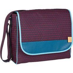 """Torebki klasyczne damskie: Torba """"Messenger Bag"""" w kolorze granatowo-różowym na akcesoria do przewijania – 31 x 37 x 15 cm"""