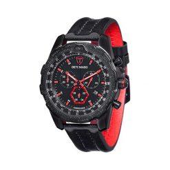 """Zegarki męskie: Zegarek """"DT-YG101-A"""" w kolorze czarno-czerwonym"""