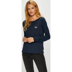 Roxy - Bluzka. Czarne bluzki asymetryczne Roxy, m, z bawełny, casualowe, z okrągłym kołnierzem. Za 149,90 zł.
