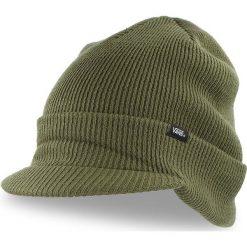 Czapka VANS - Visor Cuff VN0A3HJ8KCZ Grape Leaf 900. Zielone czapki męskie marki Vans, z materiału. Za 99,00 zł.