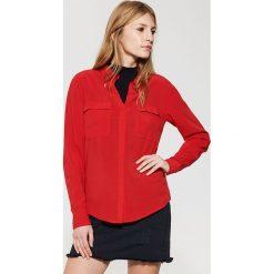 Gładka koszula - Czerwony. Niebieskie koszule damskie marki House, m. Za 59,99 zł.