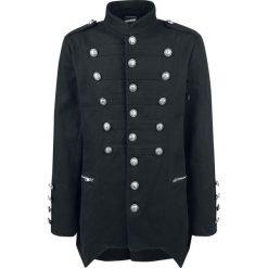 Banned Alternative Military Drummer Coat Płaszcz czarny. Czarne płaszcze na zamek męskie Banned Alternative, l, z aplikacjami, z materiału, militarne. Za 399,90 zł.