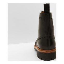 Botki męskie: Grenson FRED COMMANDO Botki sznurowane black