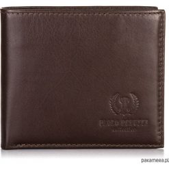 Portfel męski Paolo Peruzzi skóra + etui B-23-PP. Brązowe portfele męskie Pakamera, z materiału. Za 109,00 zł.