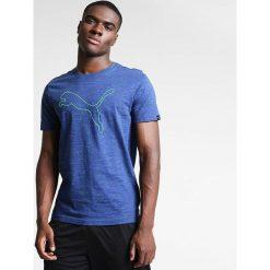 Puma Koszulka męska Essential SS Tee L niebieska r. XL (515185 13). Białe koszulki sportowe męskie marki Adidas, l, z jersey, do piłki nożnej. Za 69,00 zł.