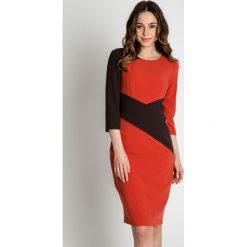 Brązowa sukienka z rękawem 3/4 BIALCON. Brązowe sukienki koktajlowe marki BIALCON. W wyprzedaży za 109,00 zł.