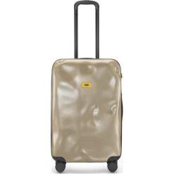 Walizka Icon średnia złota. Żółte walizki marki Crazy sales, z materiału. Za 1040,00 zł.