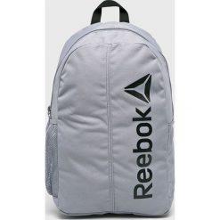 Reebok - Plecak. Szare plecaki damskie marki Reebok, l, z dzianiny, z okrągłym kołnierzem. Za 99,90 zł.