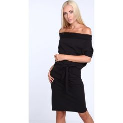 Sukienki: Sukienka Czarna z wiązaniem 9978