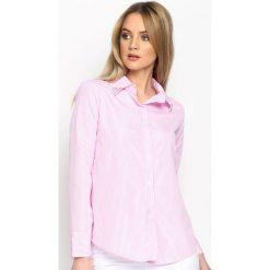 Różowa Koszula Upright. Czerwone koszule damskie marki Born2be, s, w paski. Za 54,99 zł.