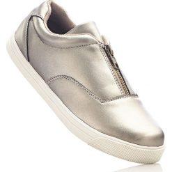 Buty wsuwane bonprix brązowo-złoty. Brązowe buty sportowe damskie marki Graceland, z materiału. Za 37,99 zł.