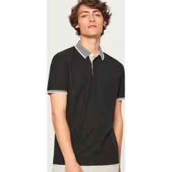 Koszulka polo - Czarny. Czarne koszulki polo Reserved, l. Za 79,99 zł.