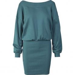 Urban Classics Ladies Sweat Off Shoulder Dress Sukienka niebieski (Petrol). Różowe sukienki marki numoco, l, z dekoltem w łódkę, oversize. Za 121,90 zł.