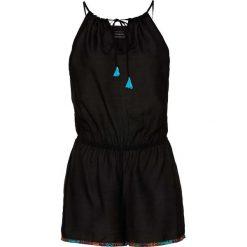 Kombinezony damskie: Kombinezon plażowy z krótkimi nogawkami bonprix czarny