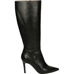 Kozaki - 3909 VIT NERO. Czarne buty zimowe damskie marki Venezia, z materiału, na obcasie. Za 349,00 zł.