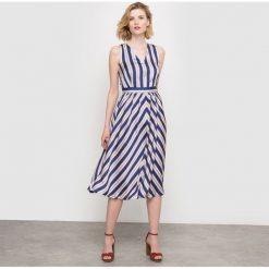 Sukienki: Długa sukienka w paski