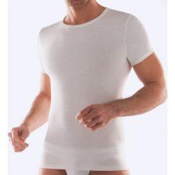 T-shirt termiczny, krótki rękaw. Białe podkoszulki męskie marki B'TWIN, m, z elastanu, z krótkim rękawem. Za 52,88 zł.