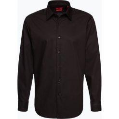 HUGO - Koszula męska łatwa w prasowaniu – C-Enzo, czarny. Niebieskie koszule męskie na spinki marki HUGO, m, z bawełny. Za 329,95 zł.