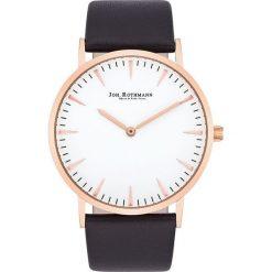 """Zegarki męskie: Zegarek kwarcowy """"Lando"""" w kolorze ciemnobrązowo-różowozłoto-białym"""